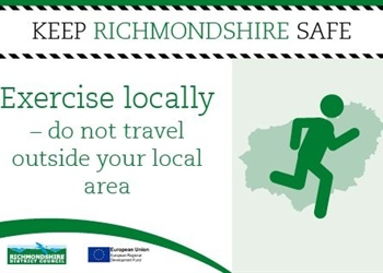 PLEASE STAY HOME AND EXERCISE LOCALLY