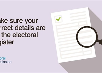 MAKE SURE YOUR DETAILS ARE CORRECT ON THE ELECTORAL REGISTER