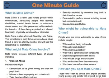 DO YOU KNOW WHAT MATE CRIME IS AND HOW TO REPORT IT?